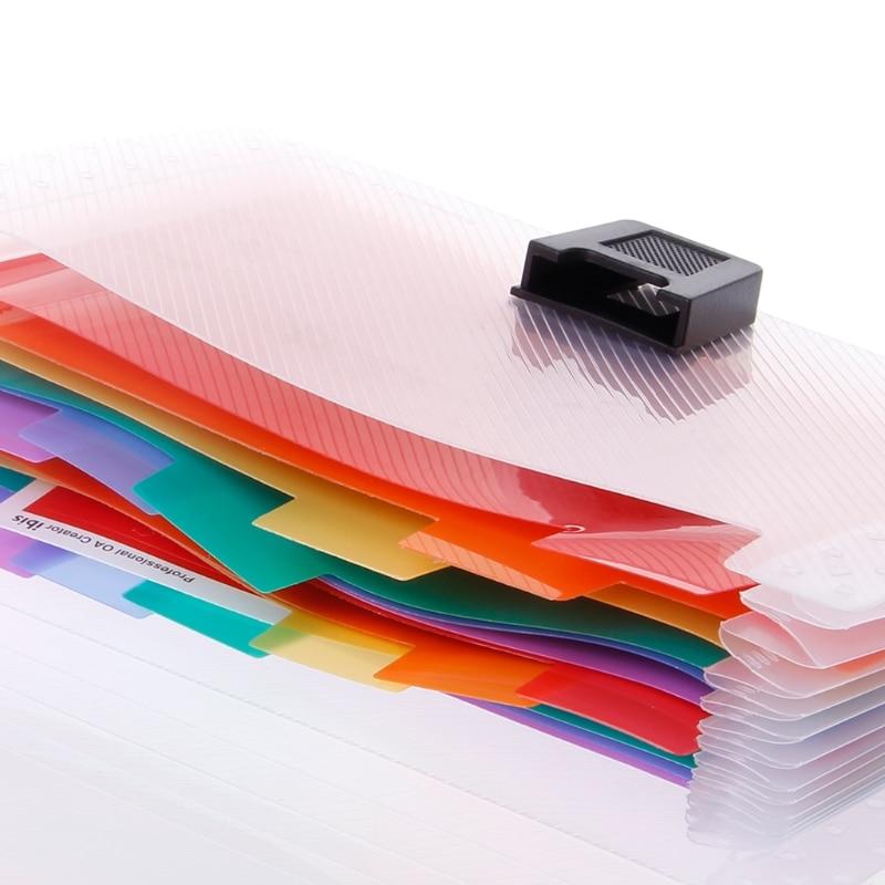A6 Rainbow Folder For Documents Expanding Bills Folder 13 Pocket School Accordion Folder