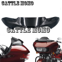 Motorcycle Wind Deflector 4 For Double Light Shark Heads Front Windshield For Harley Rode Glide Models