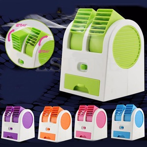 MEXI Mini USB Small Fan Cooling Portable Desktop Dual Bladeless Air Conditioner|Fans| |  -