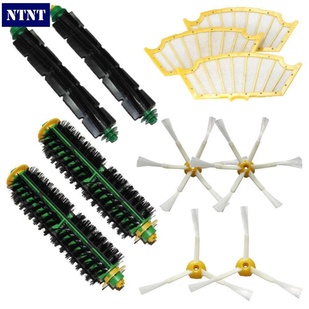 NTNT Free Post New Filters & 3/6 Brush kit for iRobot Roomba 500 Series 510 530 540 550 560 580 570 ntnt free post new 2 x flexible beater brush for irobot roomba 500 series 550 560 570 580 510 530