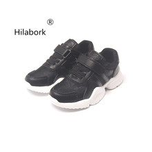 Hilabork Boys sports shoes children running shoes girls 2018 new spring and  autumn leisure breathable non af2afa64de70