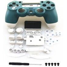 알파인 그린 프론트 백 화이트 케이스 하우징 쉘 플레이 스테이션 4 PS4 프로 4.0 Gen 2 버전 2 JDM  040 JDS 040 컨트롤러