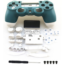 Alpine Green Front Back White Case Housing Shell For Playstation 4 PS4 pro 4.0 Gen 2th Version 2 JDM  040 JDS 040 Controller