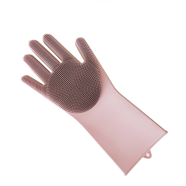 Magic Silicone Scrubber Rubber Cleaning Gloves Dusting|Dish Washing|Pet Care Grooming Hair Car|Insulated Kitchen Helper