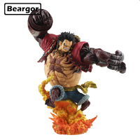 9.5 One Piece Monkey D Luffy Gear 4 Kong Gun Crimson color Ver. Boxed 24cm PVC Anime Action Figure Model Doll Toys Gift for Fan