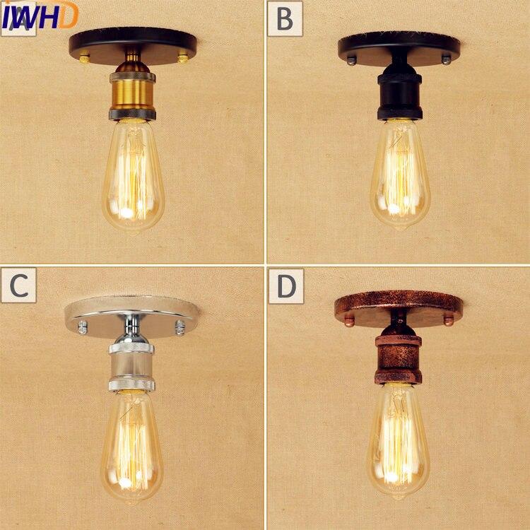 Vintage Industrial Loft Style Ceiling Fixtures Retro Lamp: IWHD LED Edison Vintage ⊱ Ceiling Ceiling Light Flush