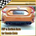 Car-styling Carbon Fiber Rear Diffuser Fit For Honda 10th Generation Civic FC KS-Style