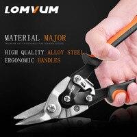 LOMVUM Metal Sheet Cutting Scissor Pvc Pipe Cutter Professional Industrial Shears Iron Scissors Multi Purpose Scissors