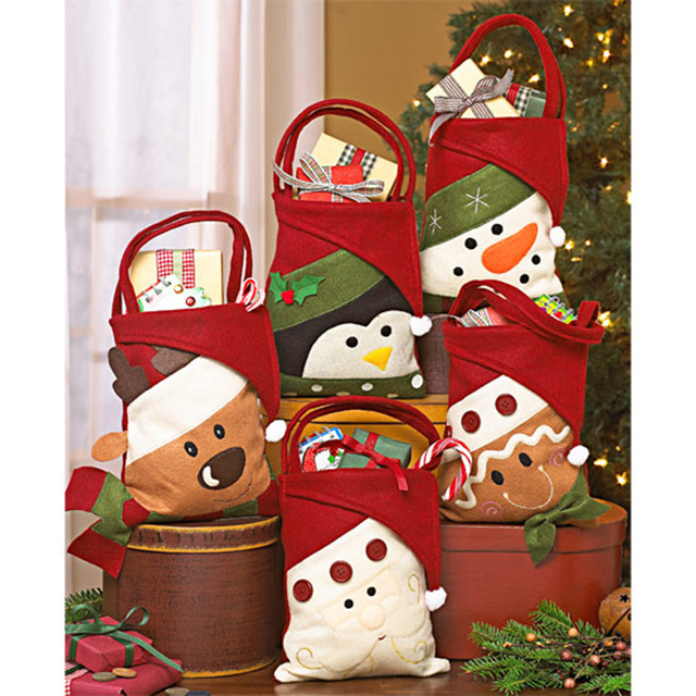 creative five style christmas gift bag candy holders merry christmas candy bags christmas decor happy gifts - Candy Christmas Gifts