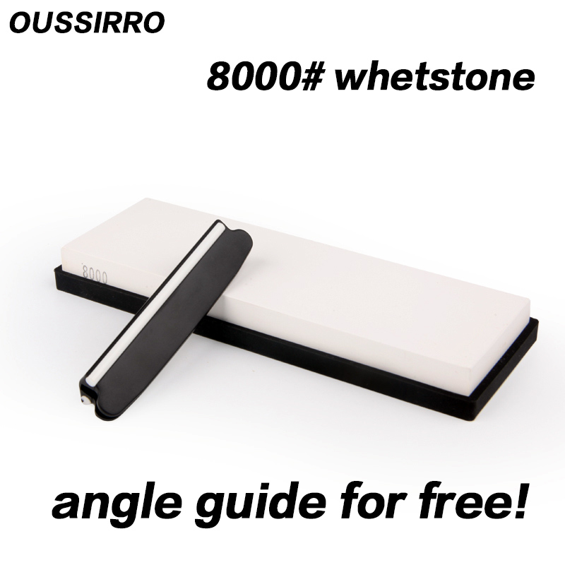 OUSSIRRO 8000 grit super fine polishing whetstone knife stone knife <font><b>sharpener</b></font> tools sharpening for knife <font><b>angle</b></font> guide for free