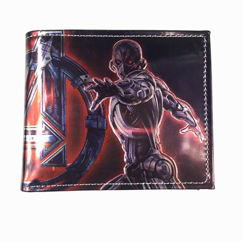 Comics DC Marvel The Avengers Wallets Marvel Hulkbuster Armor Purse Wallet Leather Gift Bags Dollar Price Super Hero Men Wallet comics dc marvel bioworld purse star