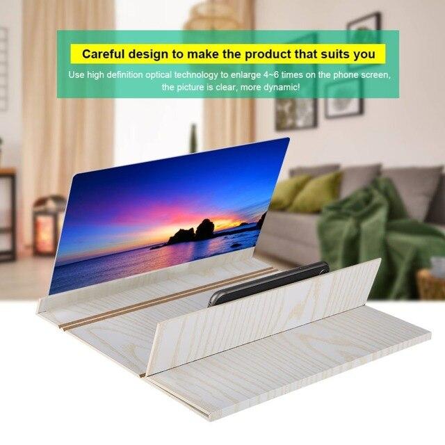 В виде бабочек, новинка, 12 дюймов мобильный увеличитель для экрана телефона для видеопроектора Экран 3D HD видео усилитель складной расширенн...