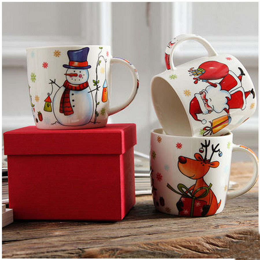 Aliexpress Com Buy Top Grade Ceramic Christmas Mugs