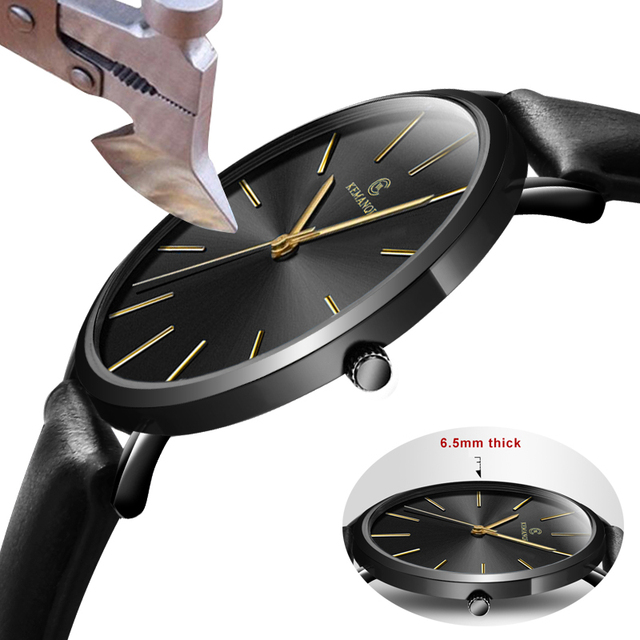 2018 New Fashion KEMANQI Watches 6.5mm Ultra-thin Men's Watch Simple Business Me