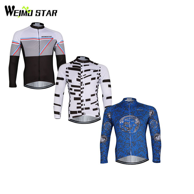Weimostar Team Bike Jerseys Cycling clothing Riding Top Male MTB Ropa Ciclismo Spring Autumn Wear Maillot Long Sleeve Shirts