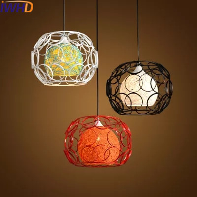 IWHD Modern Iron Ball Led Hanging Lamp Fashion Dining Kitchen Pendant Light Fixtures Home Lighting Color Luminaire Suspendu iwhd modern luminaire suspendu iron led pendant light fixtures dining kitchen hanging lamp home lighting creative design lamp