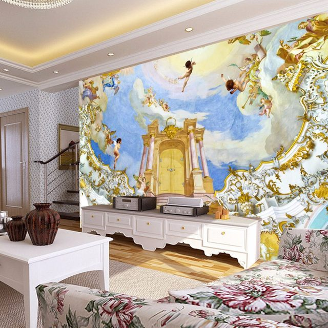 Online Shop Photo Wallpaper 3D Wall Murals European Style Angel Wall