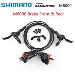 SHIMANO DEORE M6000 bicicletas de montaña freno de disco hidraulico MTB BR BL-M6000 DEORE freno 800/1000 1400/1500/1700 izquierda y derecha