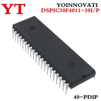 10pcs/lot DSPIC30F4011-30I/P DSPIC30F4011 30F4011-30I/P MCU 16BIT 48KB FLASH 40PDIP IC best quality