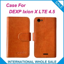 """Hot! 2016 DEXP Ixion X LTE 4.5"""" Case Factory Price High Quality Leather Exclusive Flip Cover for DEXP Ixion X LTE 4.5"""" Tracking"""
