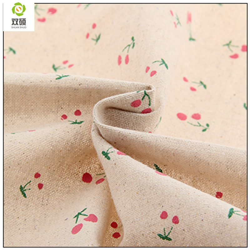 Flower Cotton Linen Fabric Needlework Textile Sewing Fabrics For Home Decoration Cloth Tablecloth Curtain 155*50cm M39