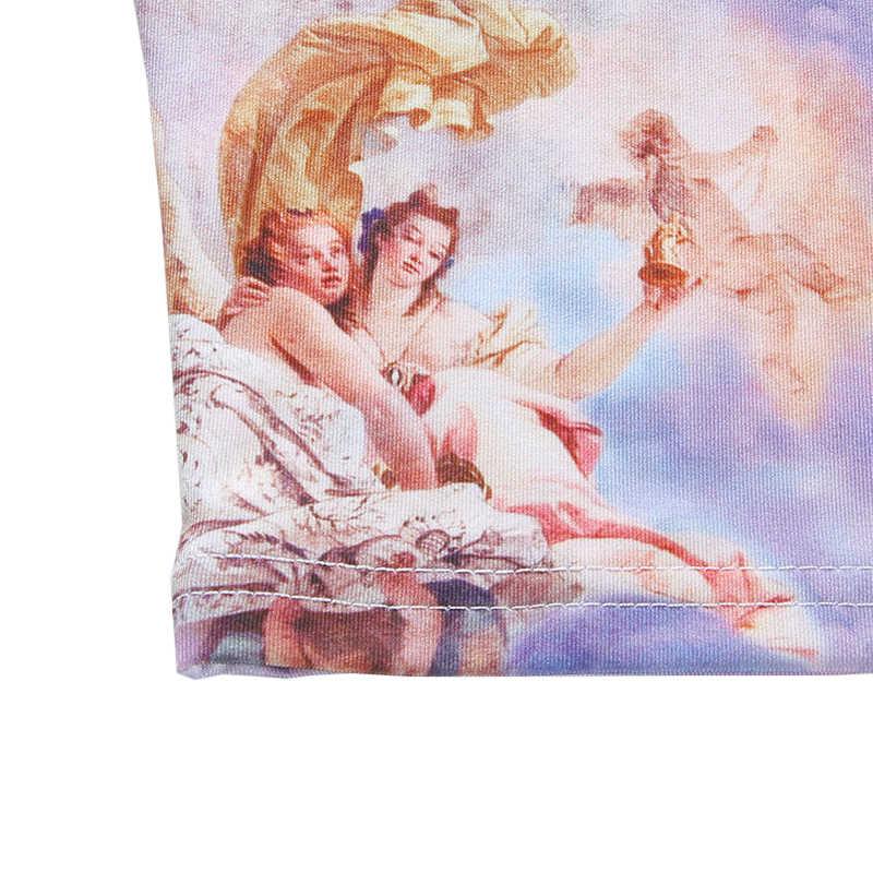 2019 女性のセクシーな天使のプリントキャミソールストリートファッション Feminino 夏キャミソール Camisola トップスクロップトップベストタンクトップス
