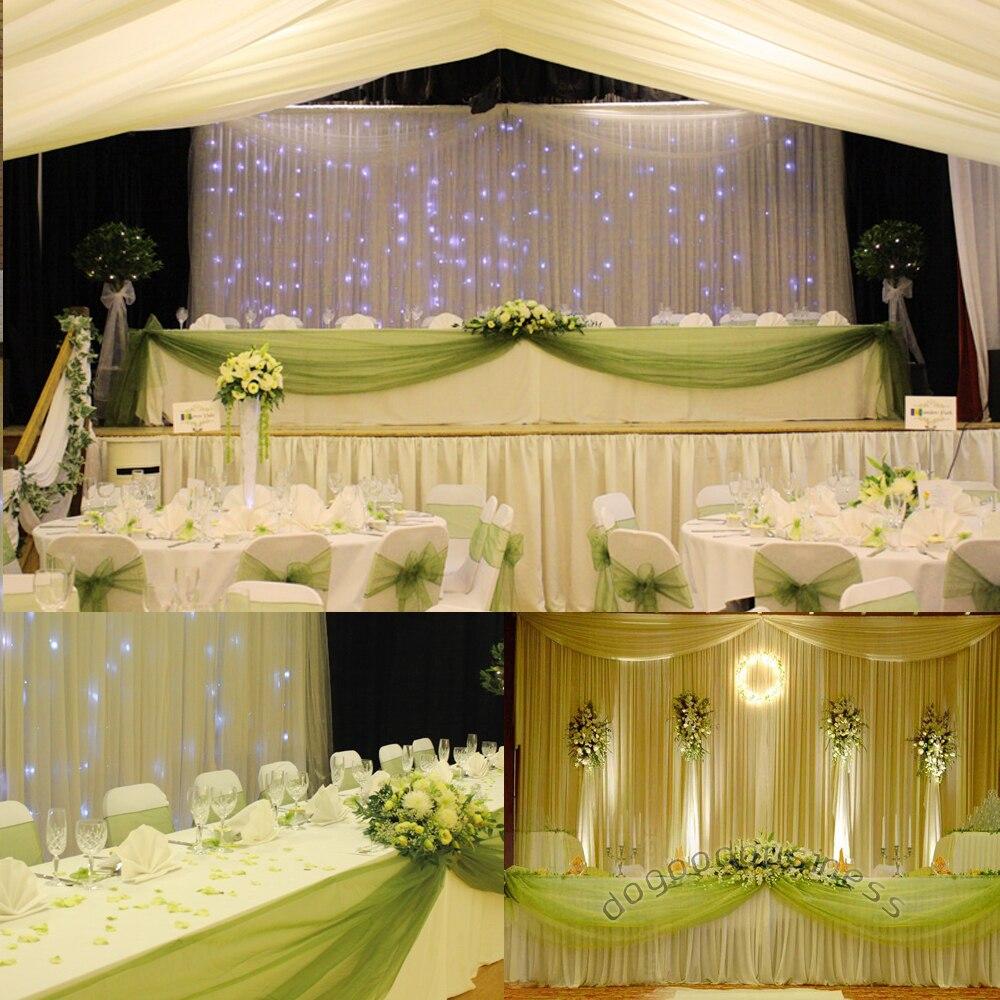 herbe vert 5 m 135 m sheer miroir organza butin tissu pour dcoration de table - Aliexpress Decoration Mariage