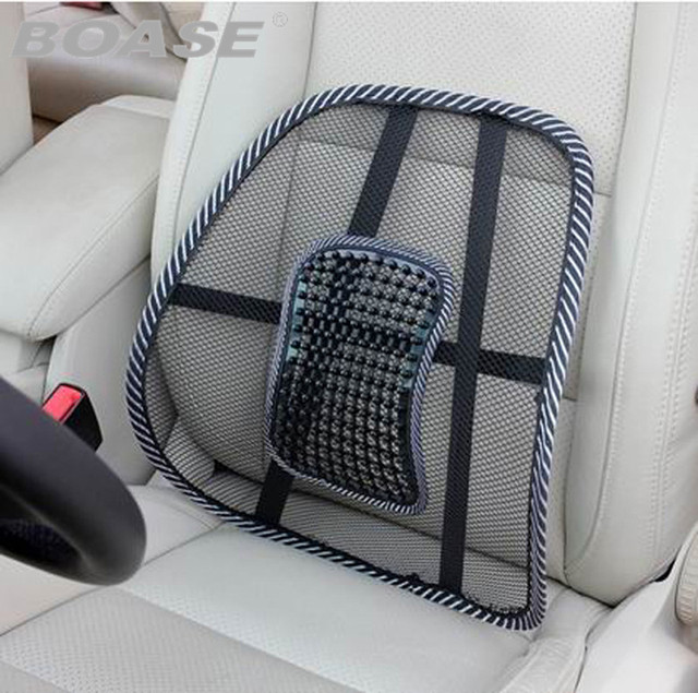 cover chair seat car chairs johannesburg office covers mesh massage back support pad cushion lumbar pillow