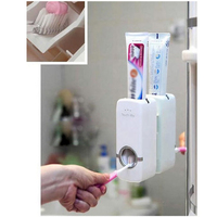 Brand new Automatic Toothpaste Dispenser Toothbrush Holder Bathroom Durable 4