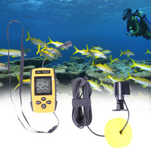 Hot Sale Echo Sounder Fishing Finder Alarm 100M 200KHz Portable Underwater Sonar LCD  Fish Finder Detector Cam Transducer