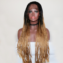 Lace-Wigs Braided Wig Heat-Resistant Ombre Blonde Beauty Synthetic African American 26inch