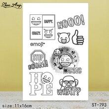 ZhuoAng  New ST-793 design transparent seal / sealed DIY scrapbook album decoration card seamless
