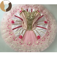 Fltoture AT1220 Pink Tutu Girls Ballet Nutcracker Tutu Child Professional Ballet Tutus Kid Dance Costumes Custom Made Tutu Skirt