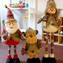 1PIECE Retractable Xmas elk/ snowman/tree decoration Christmas indoor doll Xmas creative gift, More Than $100 TNT Free Shipping