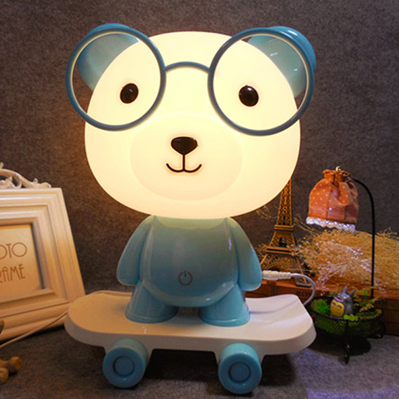 Jiaderui 3D Creative Cartoon Skateboard Table Lamps New Year Gifts Cute Dog LED Night Lights Novel Frog Lamps Baby Bedroom Decor