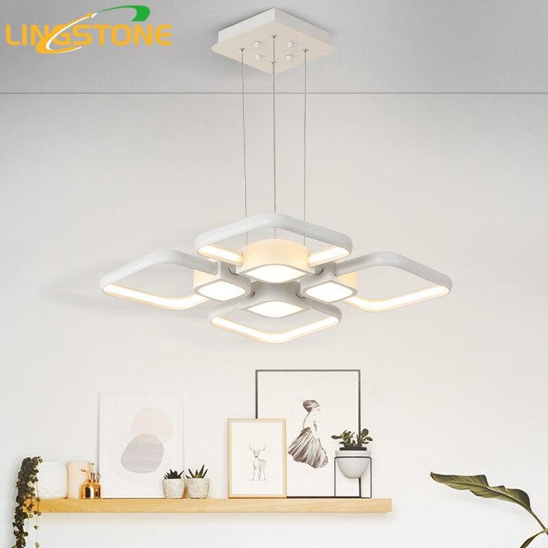Modern Pendant Lights Led Lamp Hanglamp Aluminum Remote Control Dimming Hanging Lighting Fixture Living Room Kitchen Restaurant
