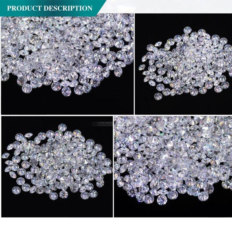 AEAW Test Positieve 1.2mm Totaal 1 CT karaat F Kleur Gecertificeerde Lab Moissanite Diamant Losse Kraal vergelijkbaar met Lad diamant-in Losse Diamanten & Edelstenen van Sieraden & accessoires op  Groep 2