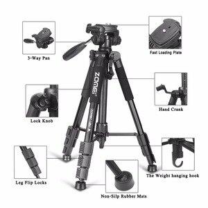 Image 4 - ใหม่Zomeiขาตั้งกล้องZ666 Professionalเดินทางแบบพกพาขาตั้งกล้องอลูมิเนียมอุปกรณ์เสริมขาตั้งหัวสำหรับCanon Dslrกล้อง