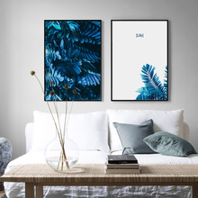 Wall Art Canvas Painting Tropical Plant Leaves Quotes Nordic Posters And Prints Pictures For Living Room Bedroom Decor