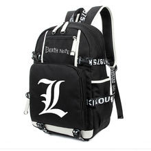 Anime Death Note Backpack Large Oxford Luminous Printing Shoulder Bag Travel Laptop Book Bags