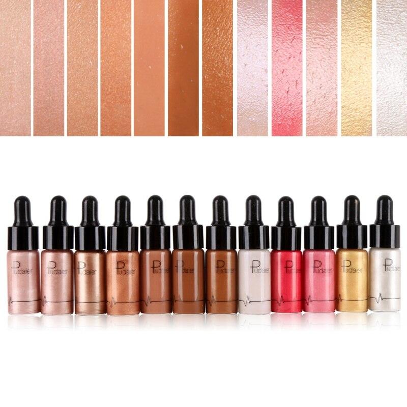 12 Цвет ярче шоколадно-коричневый сияние бронзатор Маркер Shimmer губы лицо макияж Для женщин Красота