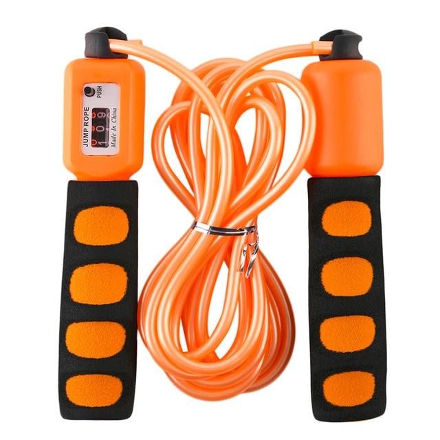 REIZ NS390 Professional Men Women Unisex Sponge Handle Luxury Counting Skipping Rope Adjustable Training Exercise Tool WHoleslae