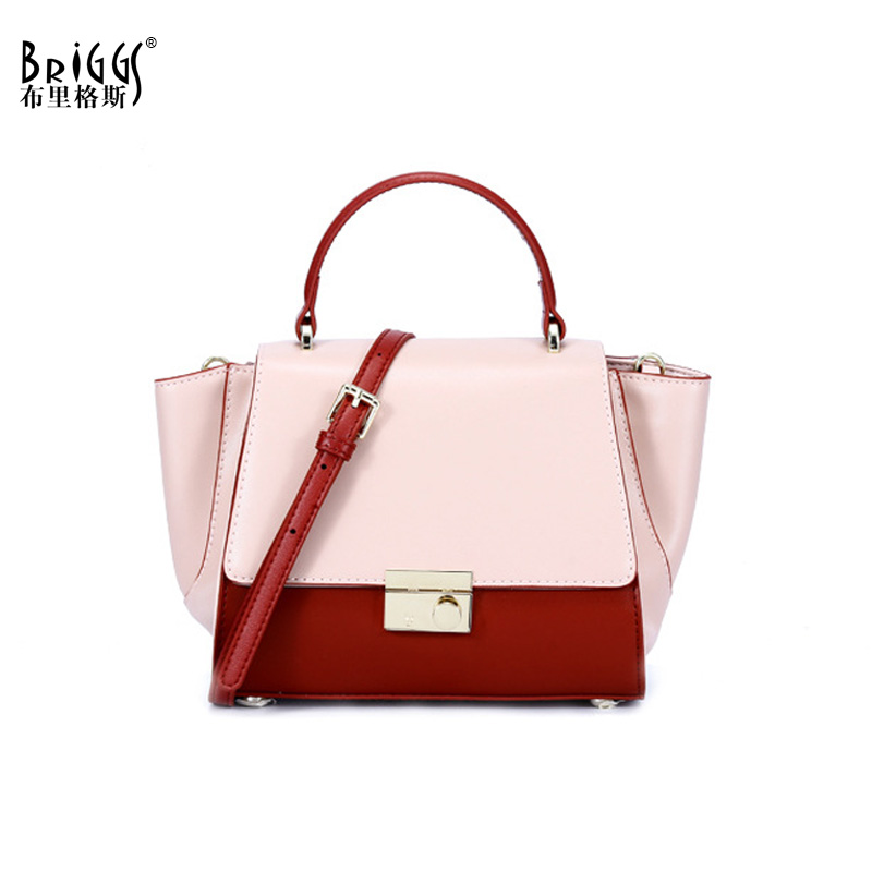 BRIGGS Luxury Small Handbags Women Bag Designer New Lady Genuine Leather Handbags Crossbody Bags For Women Shoulder Bag Tote arnagar genuine leather luxury women messenger bags new designer handbags high quality lady tote bag crossbody bag for women page 1