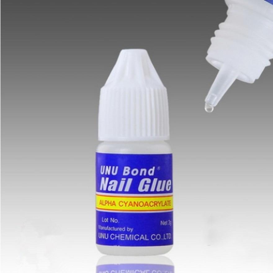 5pcs x 3g Glue Fake Nails Nail Art UV Gel Acrylic False Nails Glue ...