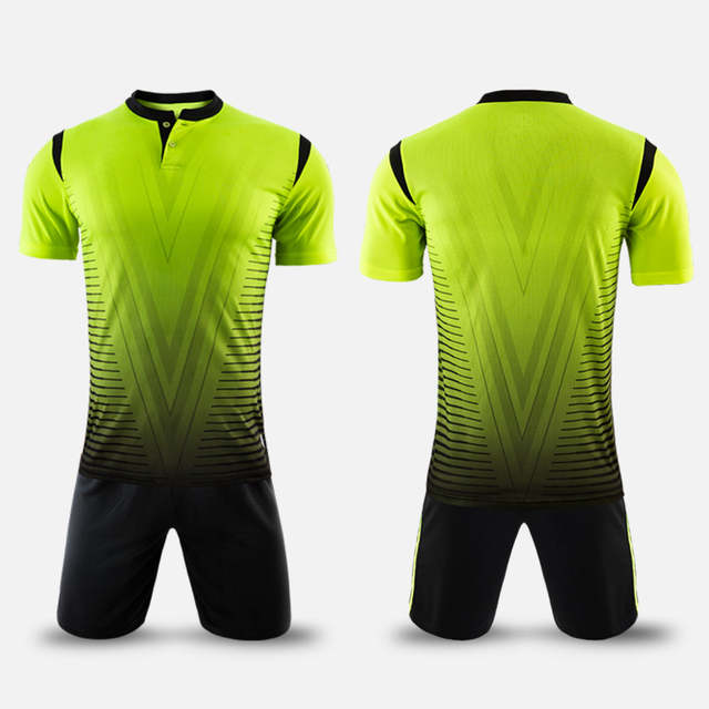2017 new arrival polyester boys men football jerseys set blank soccer team  training suits button quick. placeholder ... 7630066fd