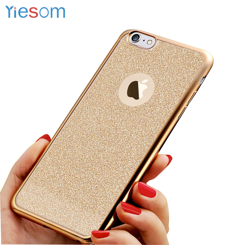 YIESOM Luxury Plating TPU Silicon Case For iPhone X 8 7 6 6S Plus 5 5S SE Back Cover Soft Case Coque For iPhone X 8 7 Plus Capa