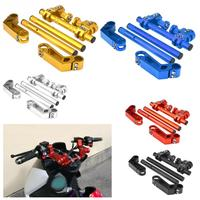 7/8 22mm Adjustable Motorcycle Steering Handlebar System for 125cc Pit Bike Dirt Bike Motorcycle Accessories Aluminum Alloy
