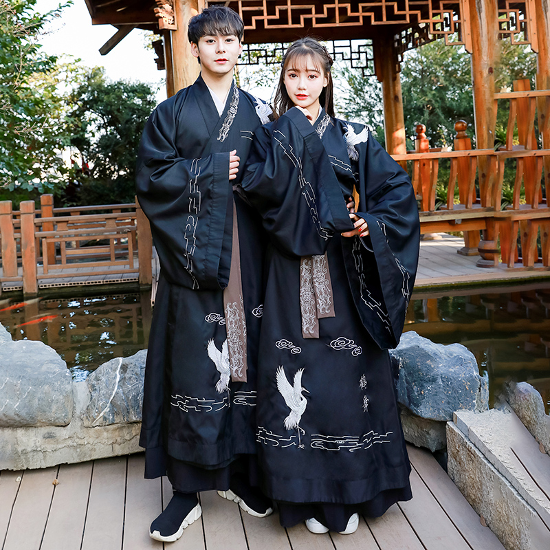 Chinese Embroidery Hanfu Men Women Classical Dance Costume Folk Festival Outfit Rave Performance Clothes Stage Costumes DF1143