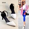 Koovan das sandálias das mulheres 2017 sapatas da mulher sandálias sandalia frete grátis versão coreana da ponta de sapatos de salto alto ponto
