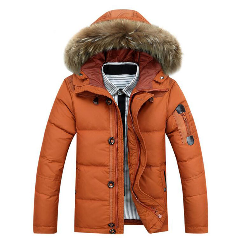 2017 Hot Sale Men Hooded Down Jacket Coat Thick Winter Jackets ...